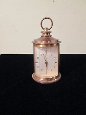 """VINTAGE ENDURA FRENCH Carriage Clock  Alarm HEAVY BRASS CASE - 7 JEWELS 4 1/2"""""""