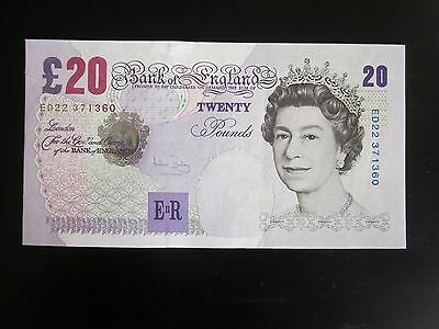 Consecutive Pair of Twenty Pound Notes  £20 Uncirculated (UNC) Bailey Note
