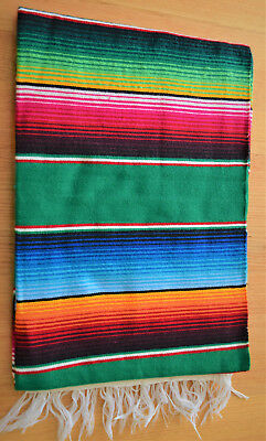 Mexican Sarape Lime Green Blanket, Rug, Picnic, Throw, Tablecloth, Hot Rod, Yoga