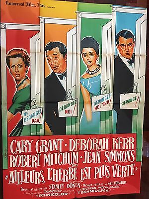 ORIGINAL FRENCH VINTAGE POSTER The Grass is Greener CARY GRANT, DEBORAH KERR