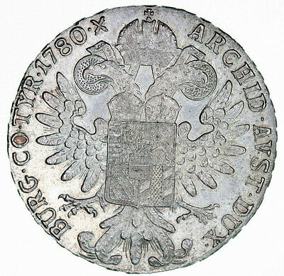 1780 Maria Theresa Silver Thaler Restrike -3 28.1g of .833 Silver