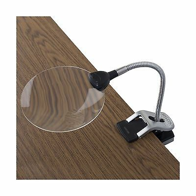 Ivation LED Lighted 2x Magnifier With Helping Hands - Clip-On & Freestanding ...