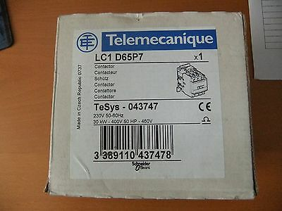 Telemecanique Lc1 D65P7 Contactor 240V Coil Brand New In Box
