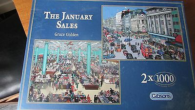 Gibsons 2 x 1000 piece jigsaws - The January Sales - by Grace Golden