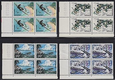 PNG 1967 War in the Pacific set as sheet number blocks of 4, mnh