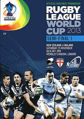 Rugby League World Cup 2013 Semi-Final Programme