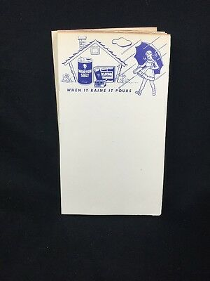 4 Vintage Morton Salt Salters Note Pads WHEN IT RAINS IT POURS House Umbrella