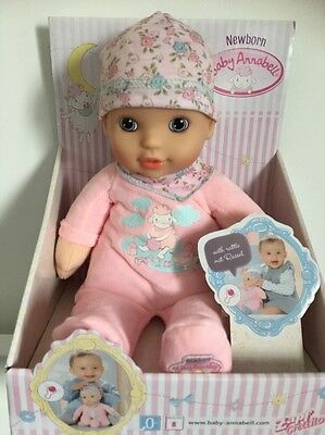 Baby Annabell My First Newborn Doll With Rattle Brand New 0+