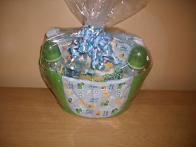 "Baby Boy ""Jungle Buddies""  Baby Shower Gift Basket"