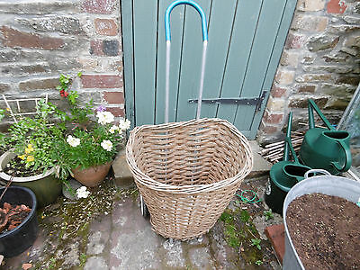 Vintage wicker shopping trolley good condition COLLECTION ONLY