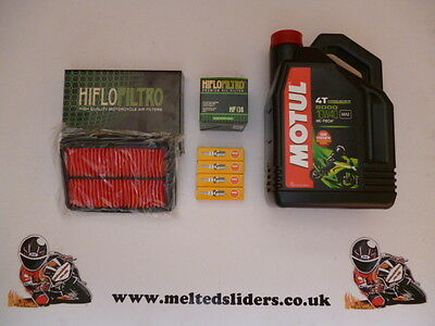 Suzuki GSF 600 Bandit Motul Oil & Hi-Flo Filters NGK Plugs Full Service Kit