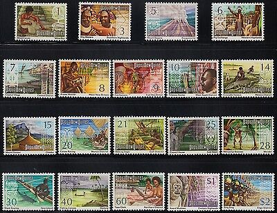 PNG 1973 Panorama definitives set of 19 values, mh