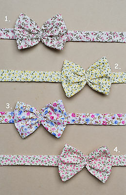 Baby Girl Headband Boutique Floral print  *Handmade*