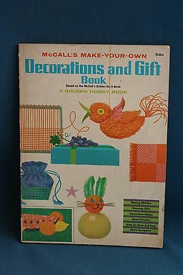 mccall's make your own decorations and gift book vintage 1965 1960's