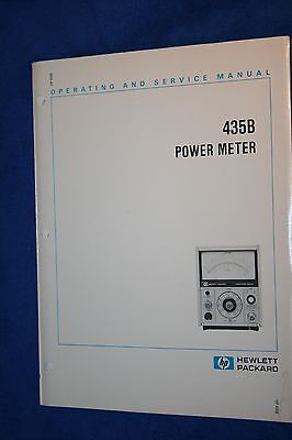 Hp 435B Power Meter Operating And Service Manual With Schematics