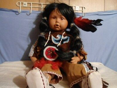 goldenvale dolls native american doll, bisque