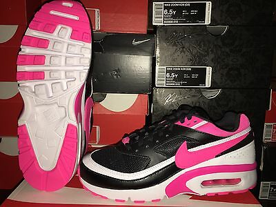 New: Nike Air Max Bw (Gs) Youth Sz 7=Wmns Sz 8.5 Black/pink-White  #834224-006