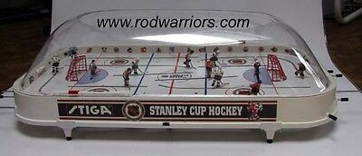 """2017 STIGA Bubble DOME """"Stanley Cup"""" Table HOCKEY Game 2 Hand-Painted NHL Teams"""