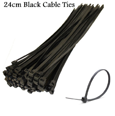 24cm Long High Quality Cable Ties Black Cable Tie Wraps Zip Ties Net banner Tie