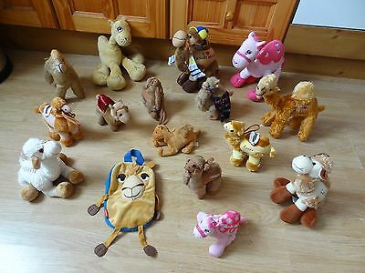 Bundle Of 16 Large & Small Plush Soft CAMELS 10 ins High max
