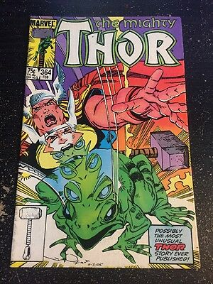 Mighty Thor#364 Incredible Condition 8.5(1986) 1st Frog Thor App, Simonson Art!!