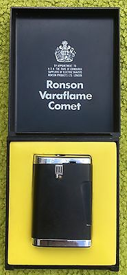 vintage ronson varaflame comet lighter With Box And Papers