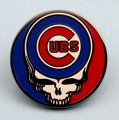 chicago cubs baseball Grateful Dead Skull Pin steal your face