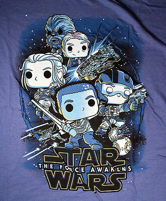 Funko Star Wars Force Awakens blue T-Shirt Smugglers Bounty Exclusive size M/L