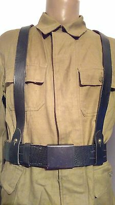 Romanian Army belt with Y-straps, early Cold War simmilar to WW2, RARE!