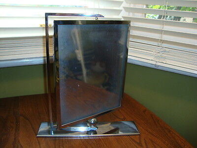 Super Art Deco Large Chrome & Glass Swivel Picture/Photograph Frame