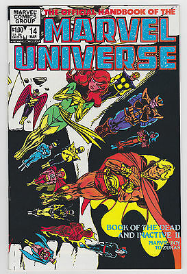 Official Handbook of the Marvel Universe 14 Vol 1 1983 NM-MINT Very HIGH GRADE