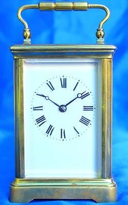 Antique French Couailett Freres 8 Day Striking Corniche Carriage Clock Serviced