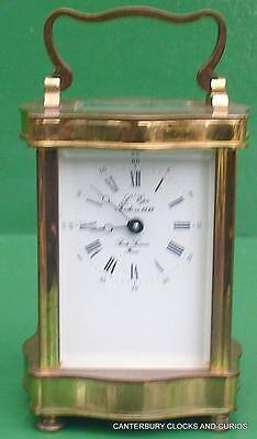 L'epee Doucine Serpentine Vintage French 8 Day Timepiece Carriage Clock Serviced