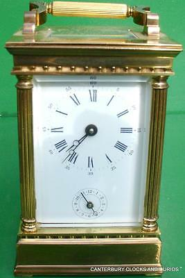 L'epee Vintage French Venitienne 8 Day Timepiece Alarm Carriage Clock