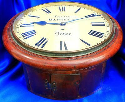 "J.bacon Market Square Dover Antique Early English 8 Day Fusee 12"" Dial Clock"