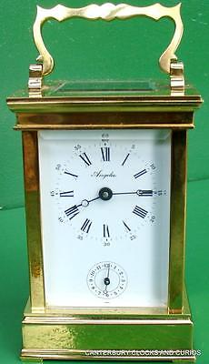 L'epee Angelus Vintage 8 Day Timepiece Alarm Carriage Clock
