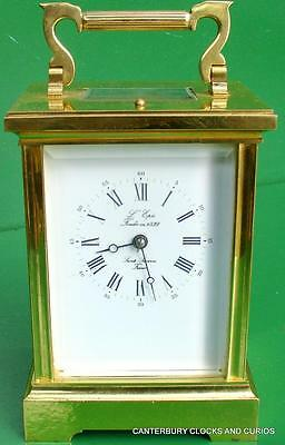 L'epee Vintage French Grande Angelus Striking 8 Day Timepiece Carriage Clock