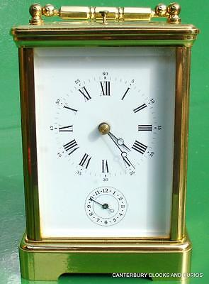 L'epee French Grande Corniche Striking Repeater Alarm 8 Day Carriage Clock