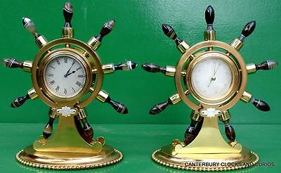 Howell James & Co Antique Ormolu Maritime Marine Navel Agate Clock Barometer