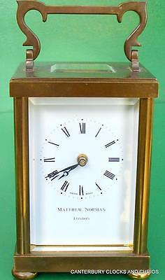 Vintage Swiss 8 Day Matthew Norman Boudoir Carriage Clock