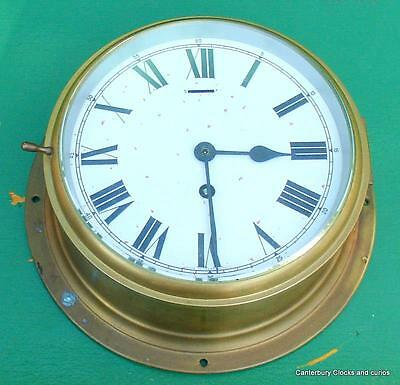 "Large Vintage Smiths Astral Solid Brass 8 Day 10"" Ships Clock"