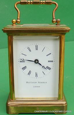 Matthew Norman Vintage Swiss 8 Day Timepiece Boudoir Carriage Clock