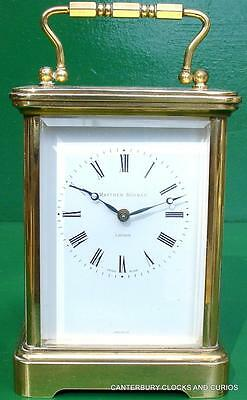 Matthew Norman Grande Corniche Vintage Swiss 8 Day Timepiece Carriage Clock