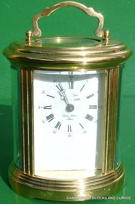 L'epee Vintage French 8 Day Timepiece Oval Carriage Clock Serviced