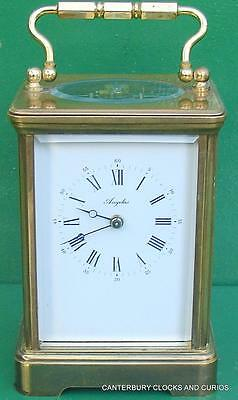L'epee Vintage French Grande Corniche 8 Day Timepiece Carriage Clock
