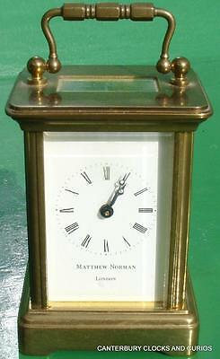 Matthew Norman Vintage Miniture Boudior Swiss 8 Day Timepiece Carriage Clock
