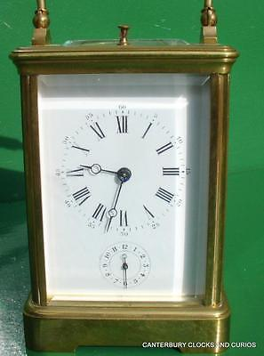 Antique French Grande Corniche Striking Repeater Alarm 8 Day Carriage Clock