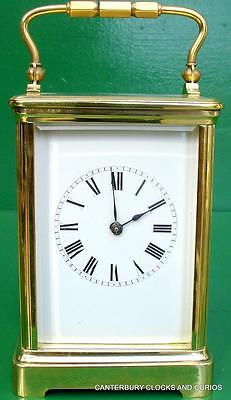 Antique French Couillet Freres Grande Corniche 8 Day Striking Carriage Clock