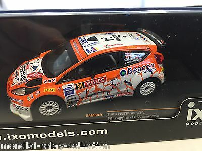 Ford Fiesta R5 M.Higgins Wales Rally GB 2013 - 1/43 IXO VOITURE DIECAST - RAM542