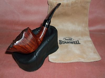 """vintage Stanwell tobacco pipe, """"Queen GR 61"""", mint with pouch"""